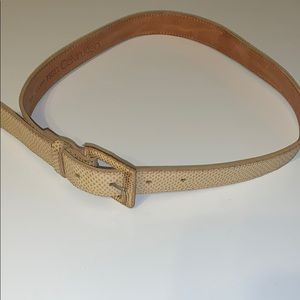 Calvin Klein lizard cream belt S/M